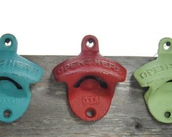 Groomsmen Gift - Set of 10 custom groomsmen bottle openers - Gifts for Groomsman - Wall Mountable Beer Bottle Opener -