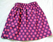 CLOSEOUT! Girls Skirt in Pink and Purple Polka dot,size 4t