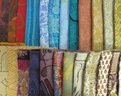 Surprise Bag of 20 Silk Fat Quarters