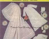 Vintage Knit Baby Christening Set Pattern PDF B063 from WonkyZebraBaby