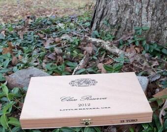 Box Clase Reserva Cigars Treasure Storage Wooden Organizer
