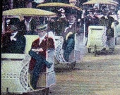 Wicker ROLLING Chairs 1906 POSTCARD Atlantic City