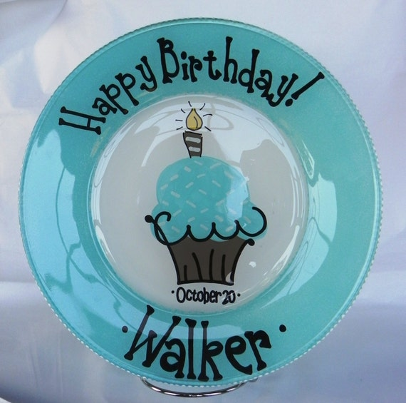 Happy Birthday Plate - Made to Order