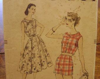 1956 Vogue Bolero Skirt and Shorts Sewing Pattern 8869