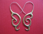 Tribal hook earrings, FREE SHIPPING, gift box.  UNIQUE.