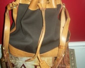 RESERVED FOR KATHY Authentic Dooney & Bourke Bucket Tote Handbag Black Canvas Leather