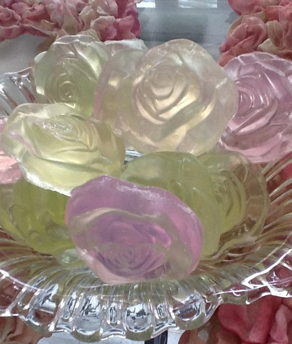 Rose Soap Wedding Favors  - Set of 100
