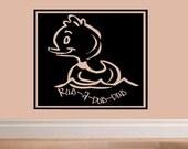 wall decal quote - Rub a dub dub rubber ducky - BA013 bathroom