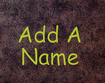 Add a Name to Your Custom MyLittleTee Shirt