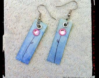 Re-Carded Purple Blooms Earrings