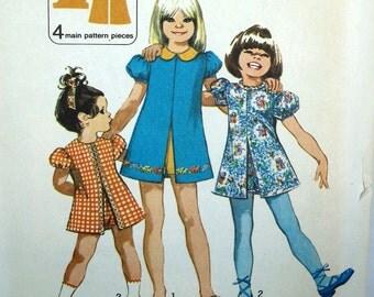 Vintage Childs Dress Pattern - Uncut - Simplicity 9895 - Size 3
