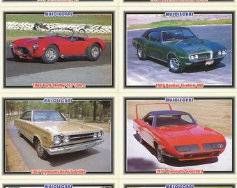 1992 Muscle Cars Trading Cards