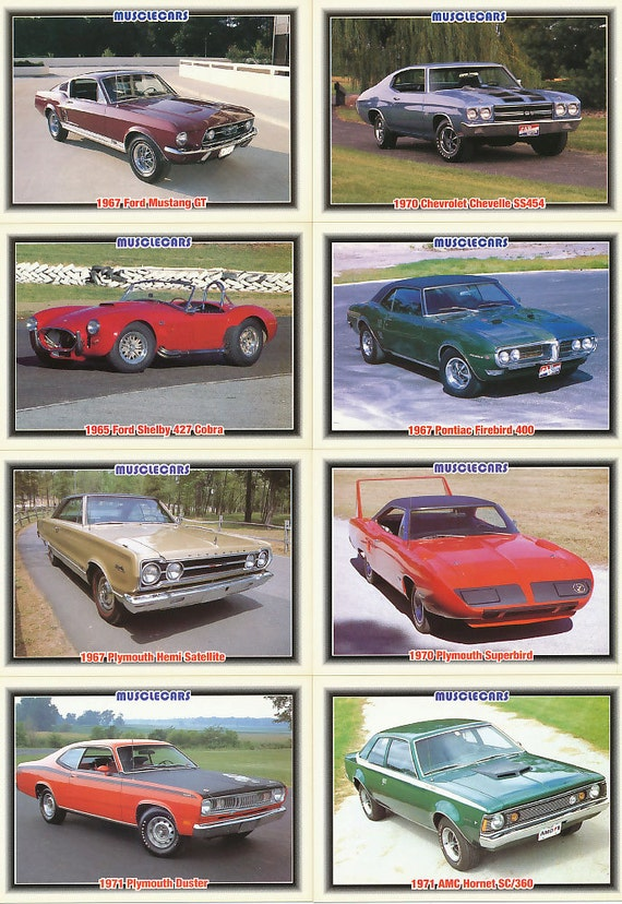 1992 muscle cars trading cards. Black Bedroom Furniture Sets. Home Design Ideas