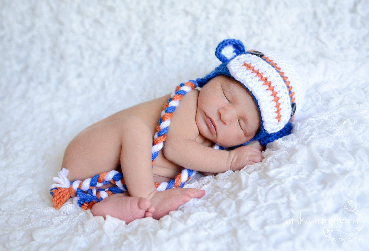 Florida Gators Sock Monkey Hat Orange and Blue Baby Hat