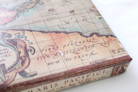 Old World Map Wrapping Paper 2X10 ft Masculine Gifts