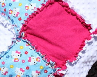Hello Kitty Rag Quilt