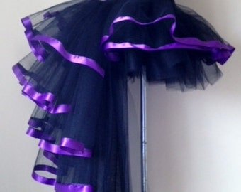 BURLESQUE  Tutu skirt Black Purple  size 4 10 U.S 6 12 U.K.Halloween