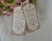 Gift Tags, Favor Tags, Friends, Bookmark Style Tags