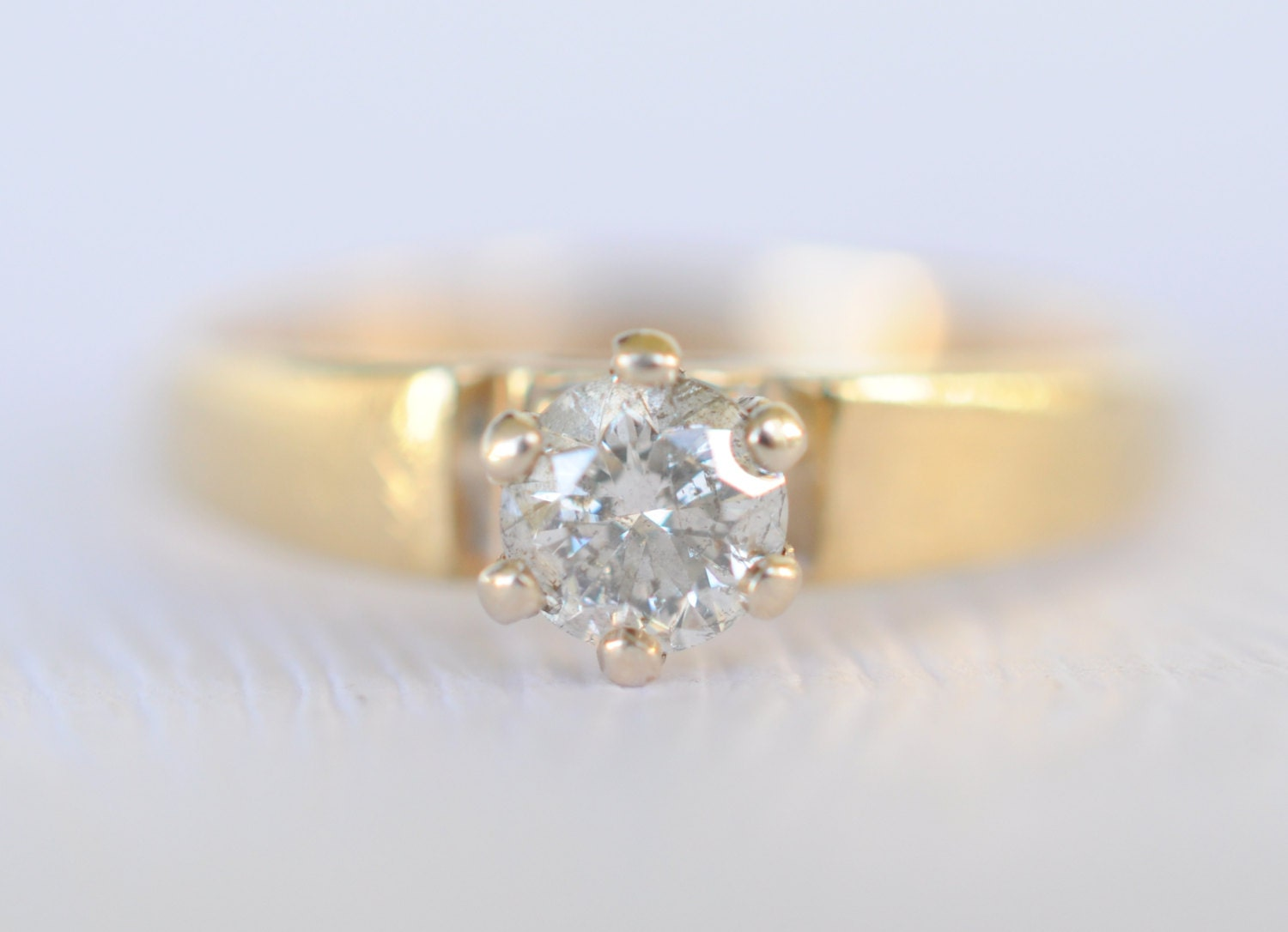 1960 s Vintage 14k gold and 0 3 carat diamond by ErinAntiques