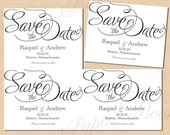 Simply Elegant Text-Editable Save the Dates: 5.5 x 4.25 - Instant Download