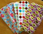 Set of Six (6) Organic Hemp Cloth Diaper Inserts: Size Large (works with gDiaper and many others)