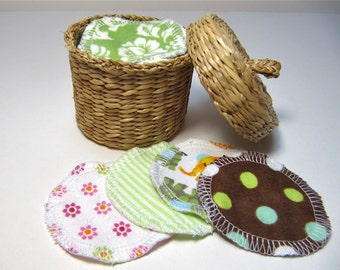 Reusable Facial Rounds, 60 Cosmetic Rounds, Makeup Remover Pads, Eco-Friendly Face Scrubbies