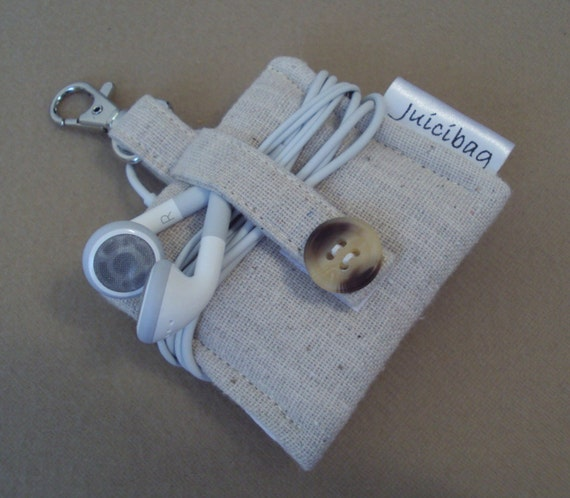 Case for iPod Nano 6th generation or iPod shuffle / Unbleached cotton  /  READY TO SHIP