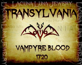 Instant download / Vampyre Blood Halloween Label -Transylvania-Printable Digital JPEG Art- LLJ3