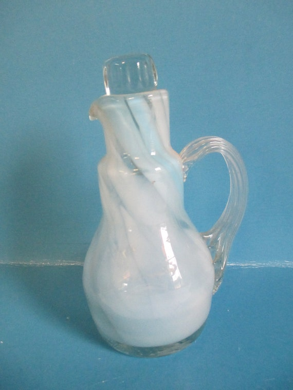 Art Glass Small Pitcher Hand Blown Smith Old Time Hand
