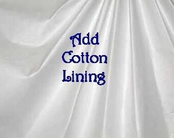 Add on listing - Cotton Lining for Curtain Drapery Panels