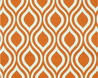 2 Pillow Covers 16x16 inch-Free US Shipping - Nicole in Tangelo Orange/White
