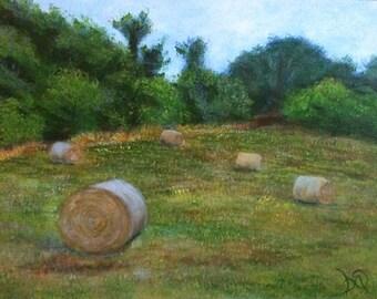 "Landscape Art Print- Original Acrylic Painting- ""Beautiful Field""- 8x10,11x14,or 16x20"