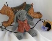 MYLO - knit, stuffed bunny rabbit