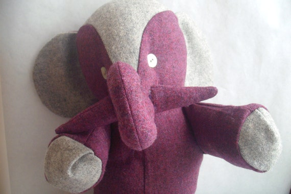Stuffed Elephant Toy--Bernard