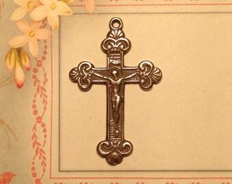 Sterling Silver Rosary Bracelet Crucifix