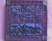 Believe mixed media polymer clay mosaic wall art