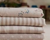 "Cotton Linen Fabric Cloth -DIY Cloth Art Manual Cloth -Brown series 4 Pieces 13x9 Inches "" Each"