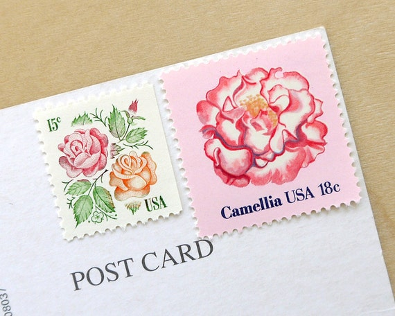 Vintage Floral Postage Stamp