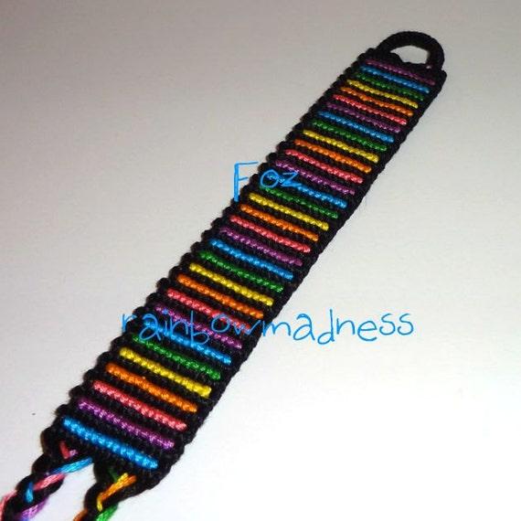 rainbow stripes wrist cuff