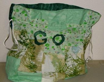 Go Green Reusable Fabric Gift Bag/ Storage Bag