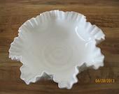 Fenton Milkglass Hobnail Centerpiece Bowl - Item 14-1165