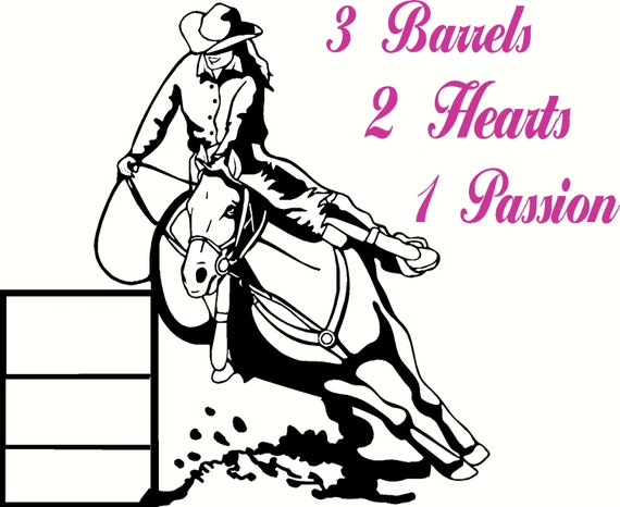 Items Similar To Barrel Racing Vinyl Decal On Etsy