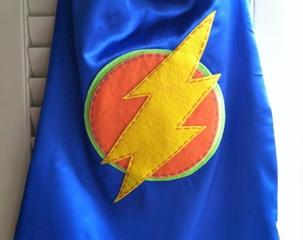 Superhero Cape-PERSONALIZE/CUSTOMIZE BLUE Boys Superhero Cape - Choose the Initial - Superhero Birthday Party