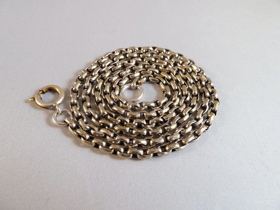 Great Antique Sterling Silver Belcher Chain