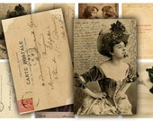 Antique Photo Ephemera Digital Collage Sheet Download - 412 - Digital Paper - Instant Download Printables