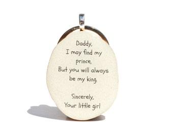 Dad keychain. Father's day mens keychain Dad gift. Father gift. Gift for men. Gift for new dad eco friendly