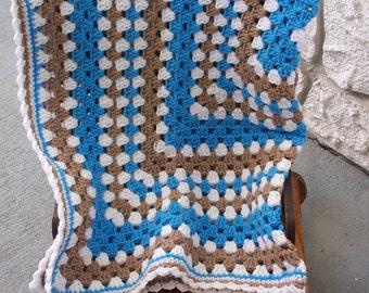 Baby Blanket, Granny Square Baby Blanket, Stroller Blanket, Car Seat Cover, Crib Blanket, Nursery Decor, Shower Gift