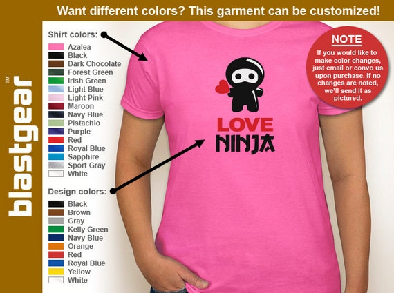 Love Ninja funny Valentine's Day womens T-shirt — Any color/Any size - Adult S, M, L, XL, 2XL, 3XL