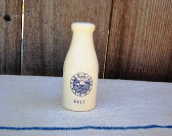 White and Blue ceramic Salt Shaker