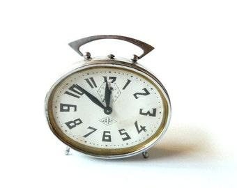 French vintage JAPY Alarm clock .Retro clock
